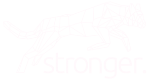 Stronger Cat Logo in White