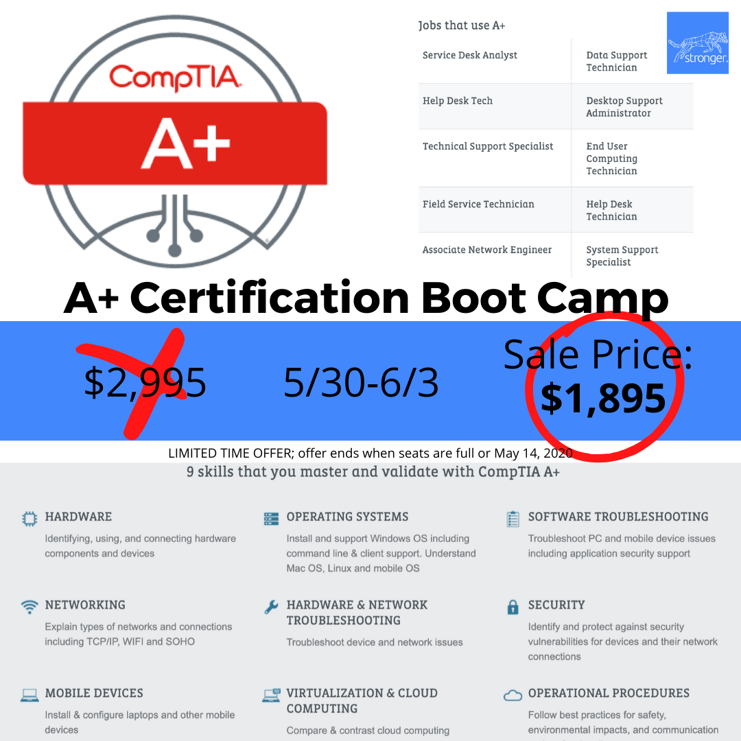 May Special Price CompTIA