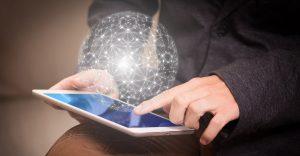 Stronger.Tech Cybersecurity Cyber Network Globe Mesh