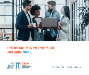 NCSAM Cybersecurity Awareness Month Post