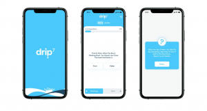 Sample screens from Drip7