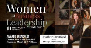 Heather Stratford - Women in Business Leadership award