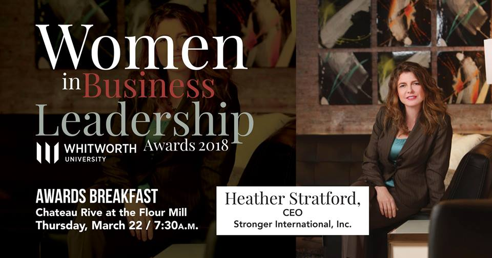 Heather Stratford - Women in Business Leadership award