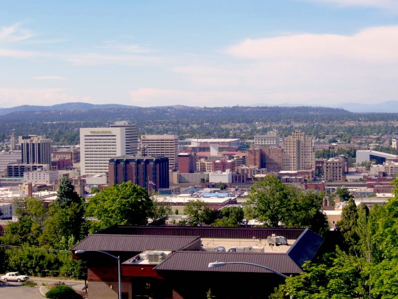 Spokane, WA from the South Hill